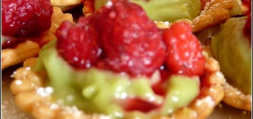 tartelettes fraises crème de pistache