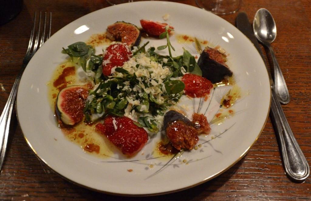 salade de pourpier et fromage de chèvre