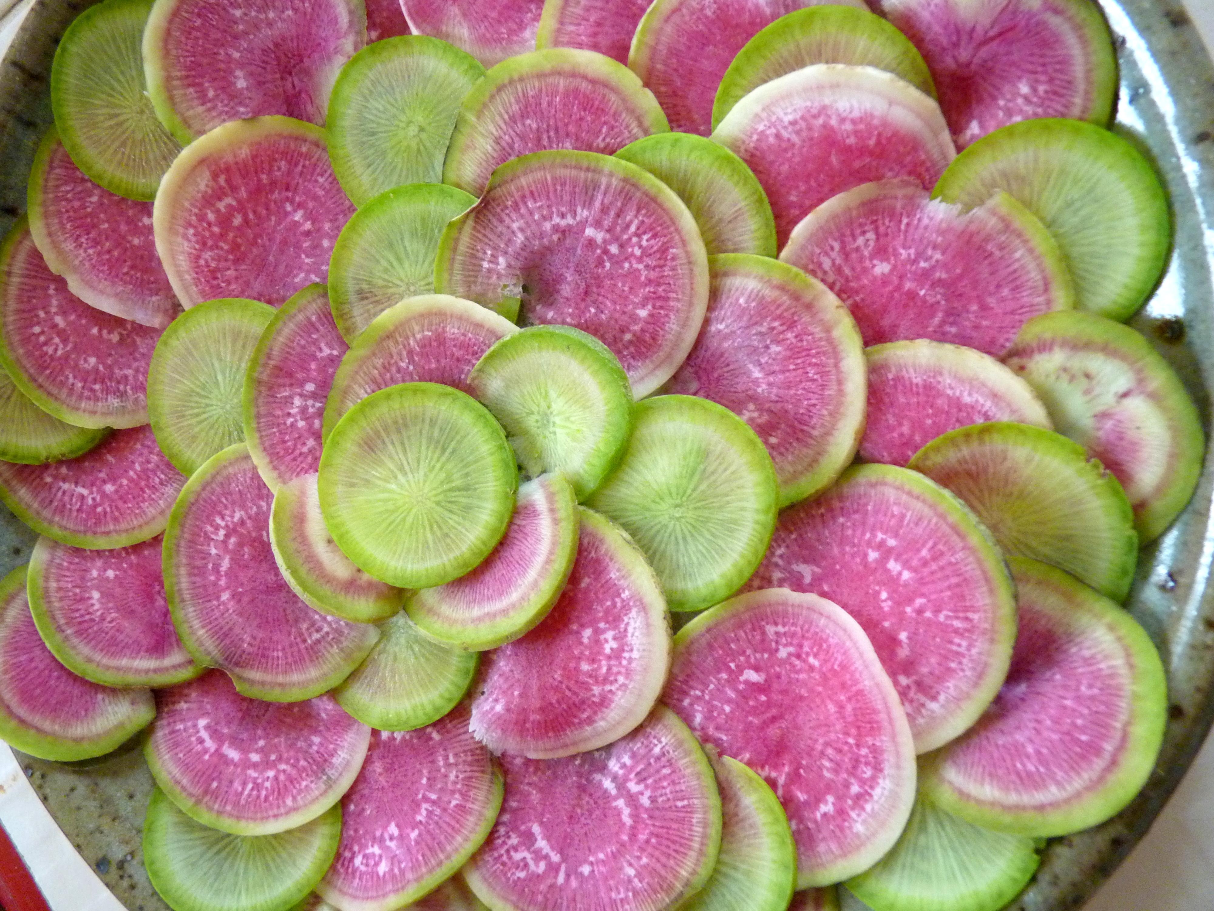 Radis green et red meat une cuiller e pour papa - Quand cueillir les radis ...