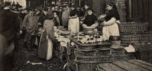 Le marché aux fromages - Halles de Paris - Source :  camembert-museum.com