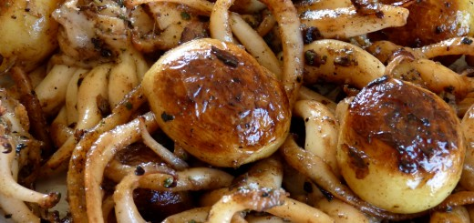 Têtes de seiches au beurre de gingembre