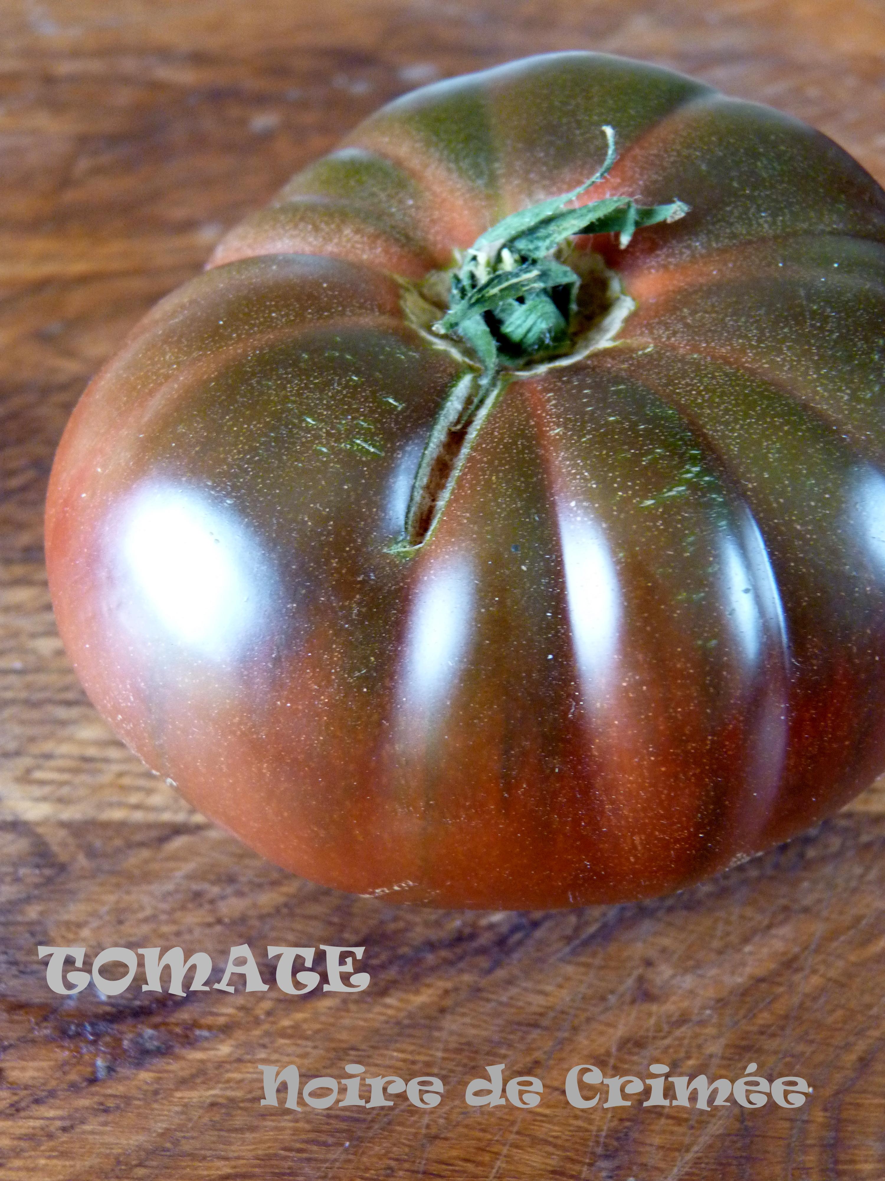 Sauce vierge la noire de crim e poivron et abricots - Tomate de crimee ...