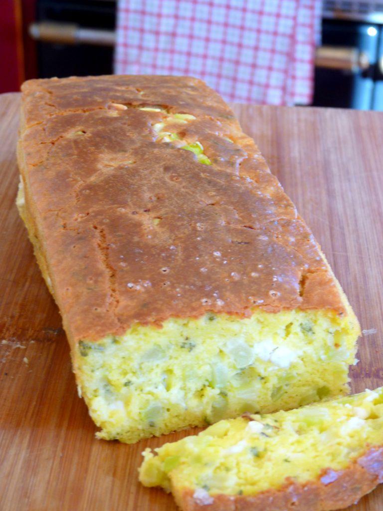 Cake aux courgettes feta et citron