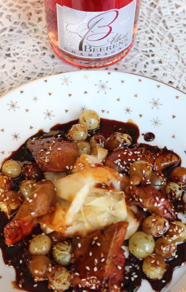 Foie de lotte teriyaki aux raisins de moissac champagne day une cuiller e pour papa - Cuisiner le foie de lotte ...