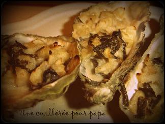 huîtres à la plancha