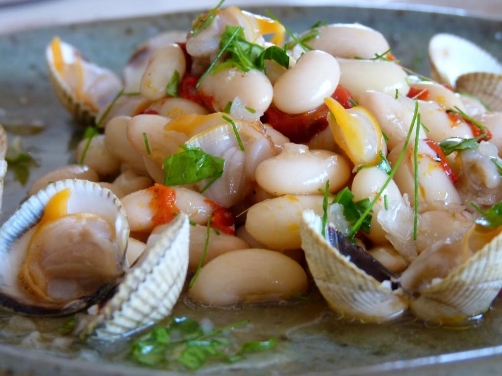 salade de mogettes aux coques
