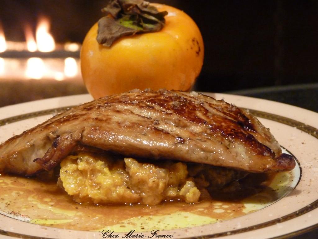 Foie gras poôlé chutney de kakis