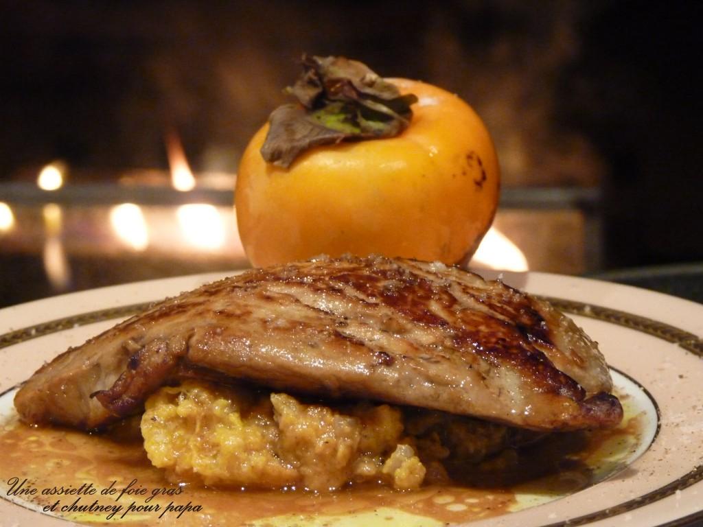 Foie gras poelé aux kakis