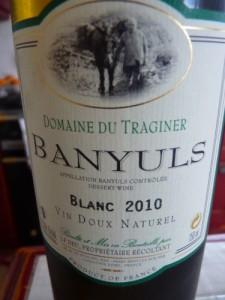 Banyuls blanc Domaine du Traginer