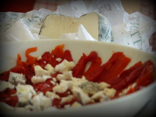 salade de poivron au chèvre