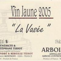 vin jaune d'Arbois la Vasée 2005