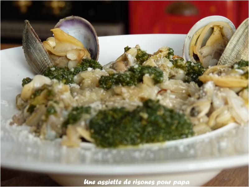 Risone en risotto aux palourdes