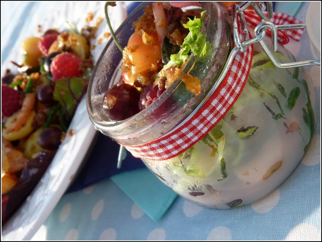Salade d'encornets aux cerises