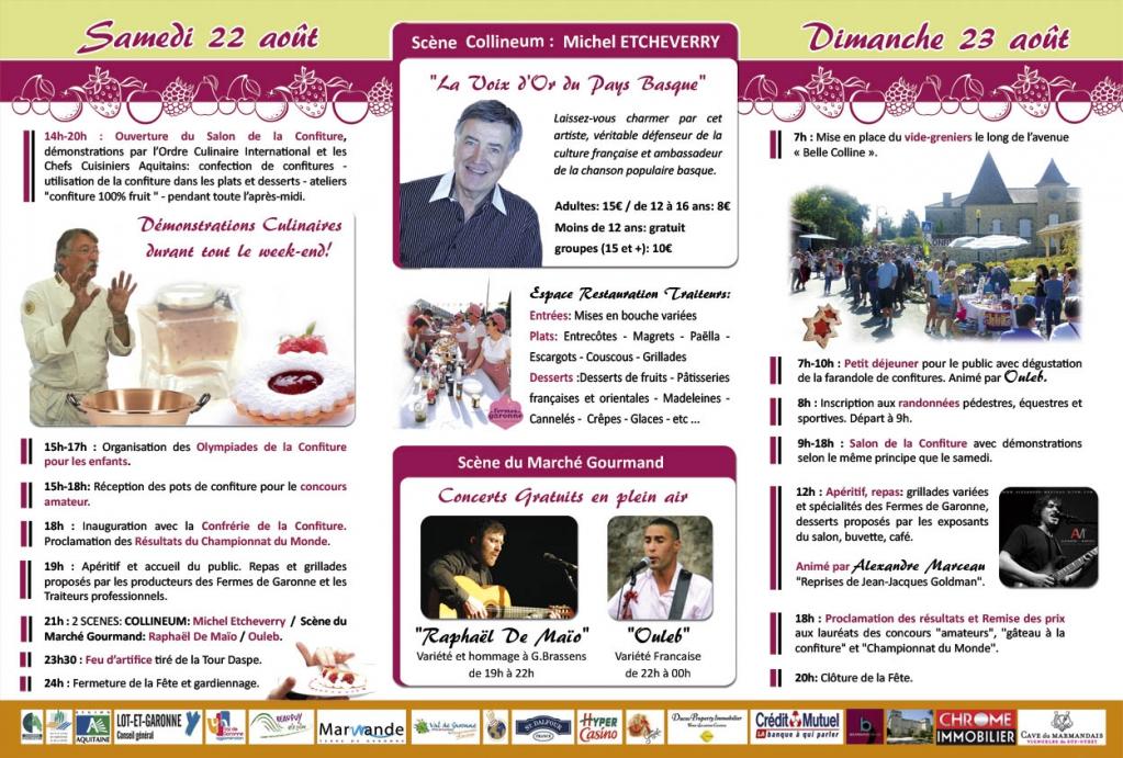 Programme confituriades 2015