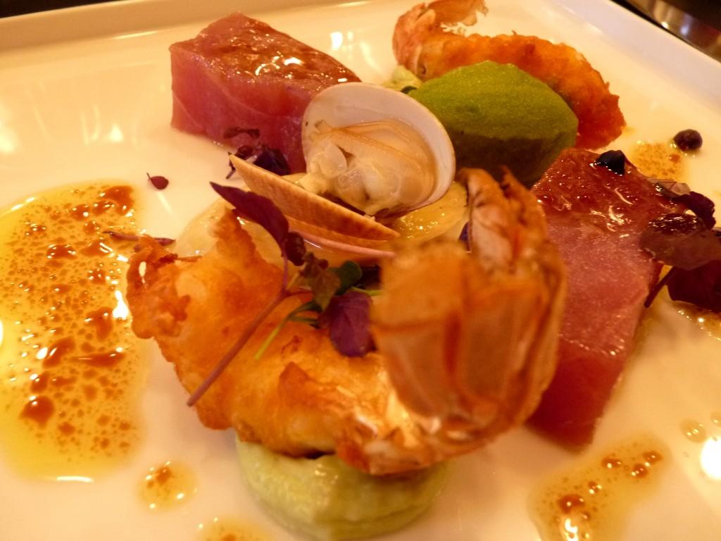 Crevette impériale de Charente et thon rouge