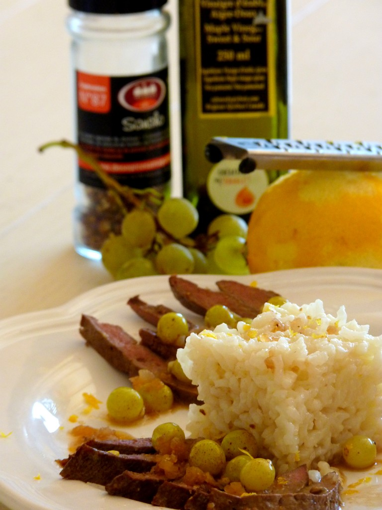 Foie de boeuf au raisin