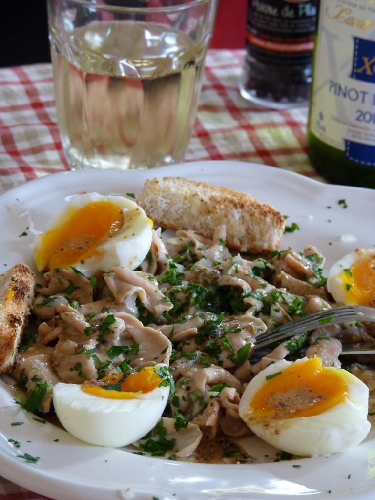 Fraise de veau en salade à la vinaigrette