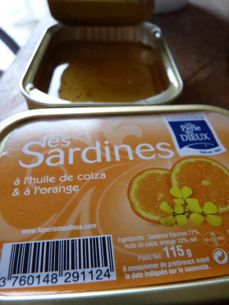 sardines les Dieux à l'orange