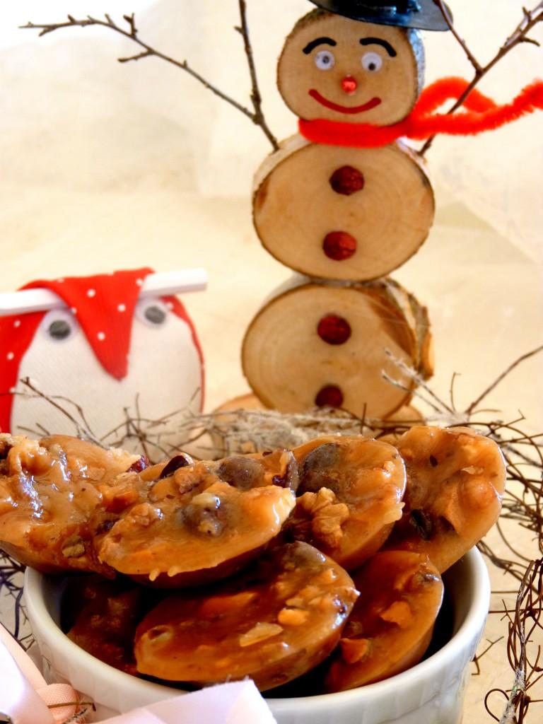 Caramels aux noix et noisettes
