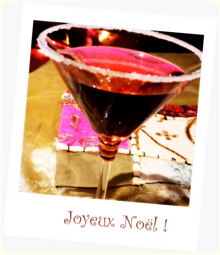 Cocktail de Noël au sirop de rose