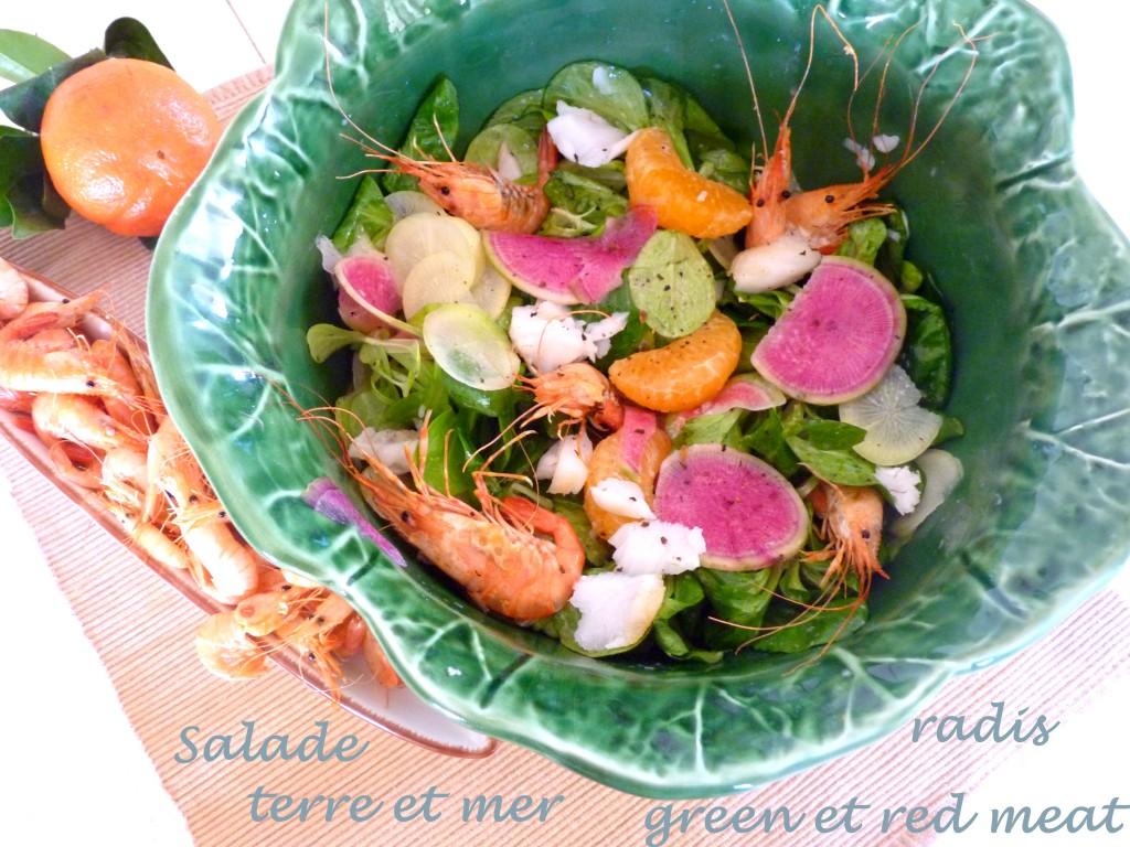 Salade de green et red meat
