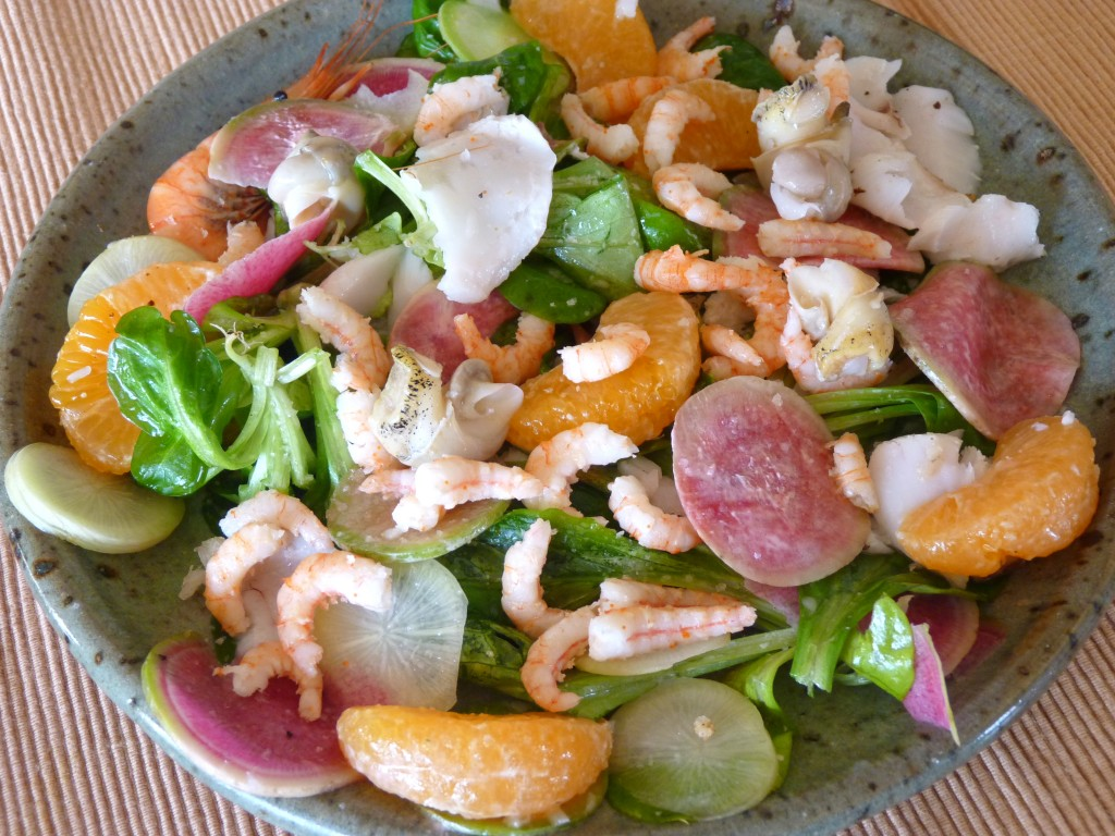 salade green et red meat