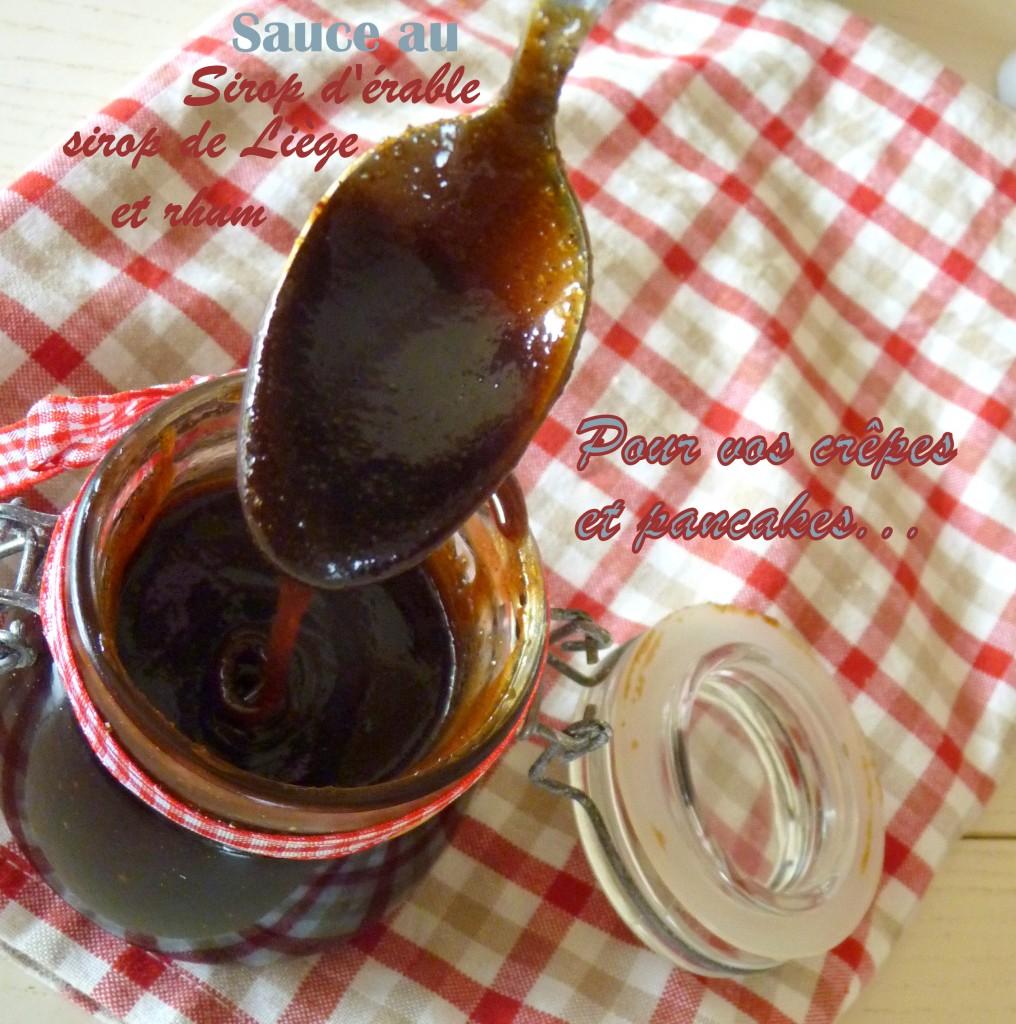 Sauce sirop d'érable