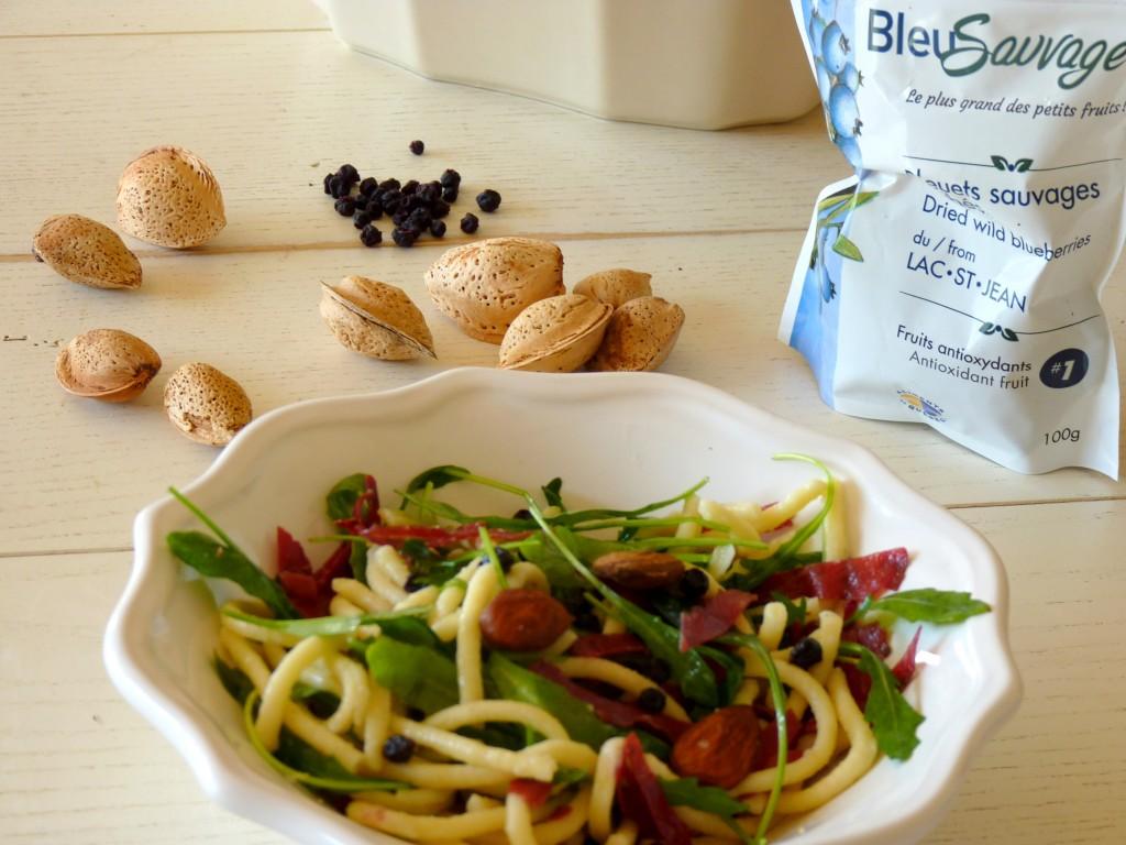 Salade späetzel bleuets séchés