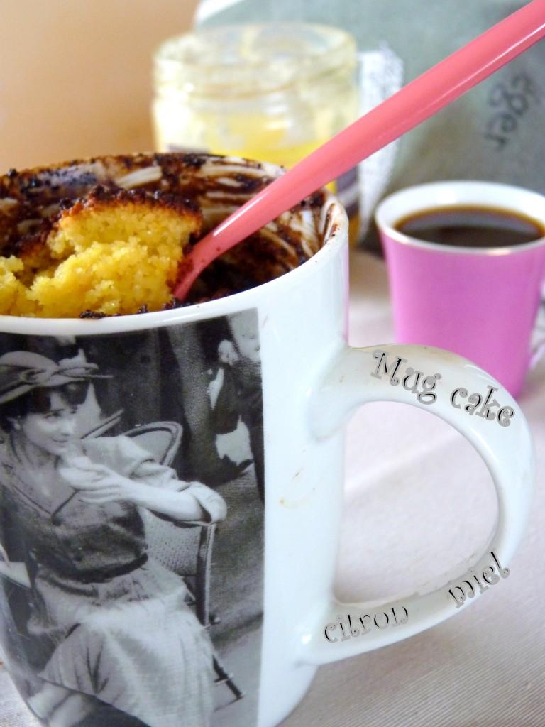 Mug cake citron miel