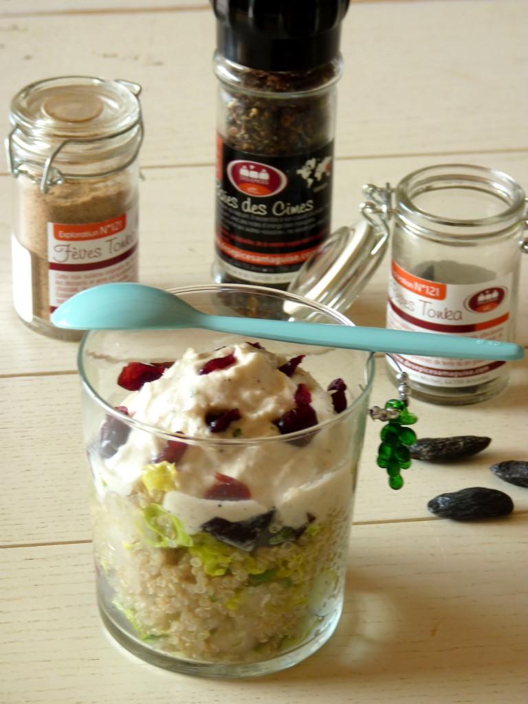 quinoa en salade et mousse d'asperges