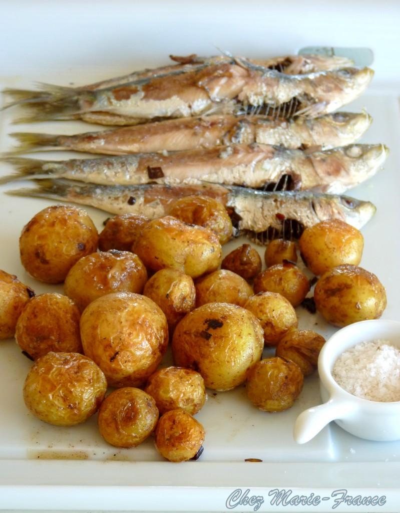 pommes de terre de Noirmoutier et sardines de Croix-de-vie