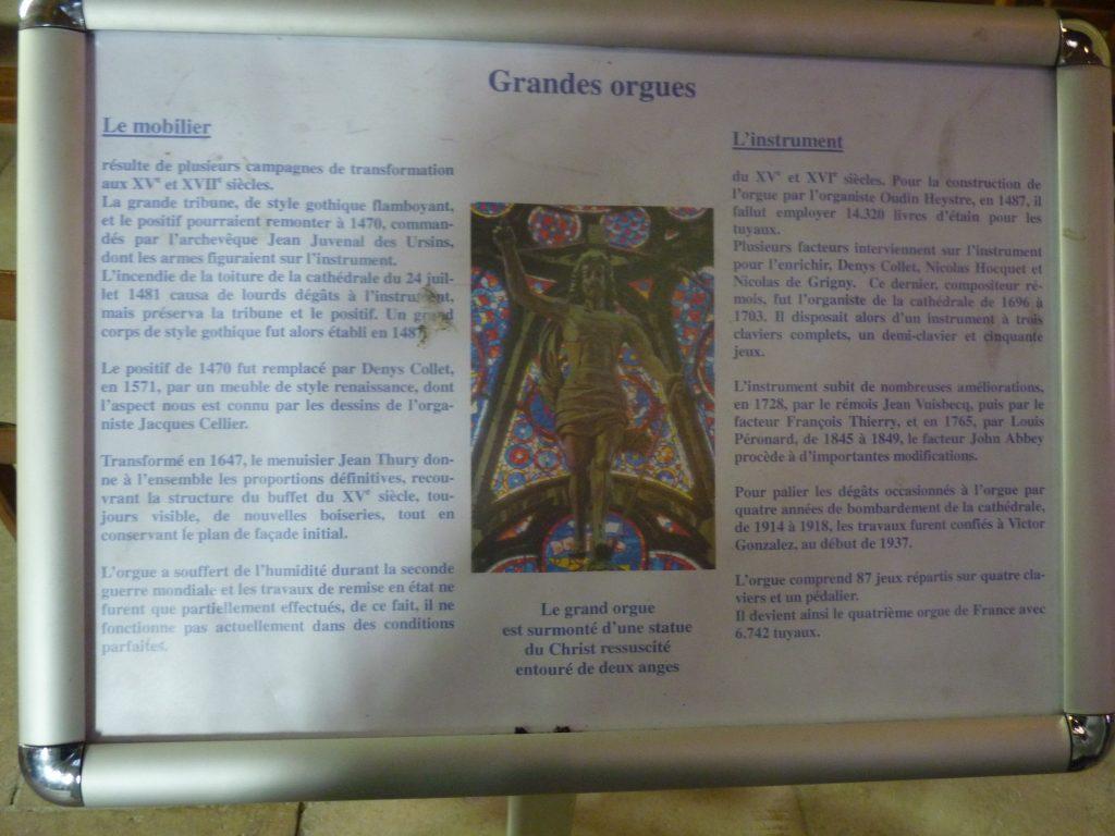 Grandes orgues cathédrale de reims