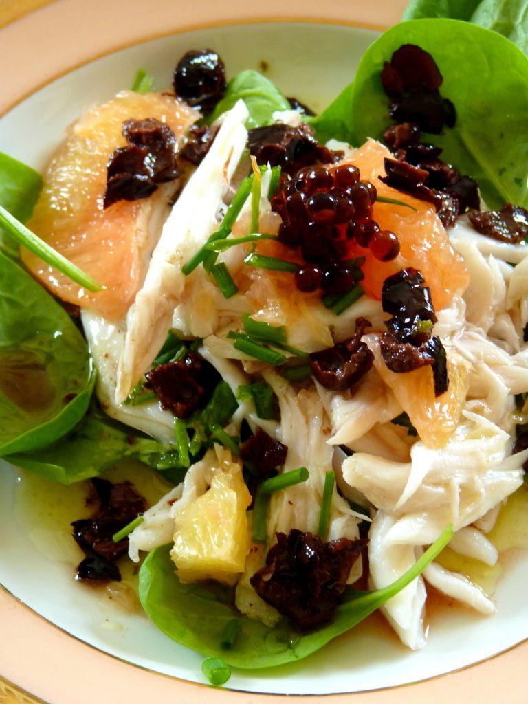 Salade d'aile de raie au pamplemousse