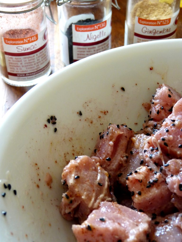 marinade de thon rouge