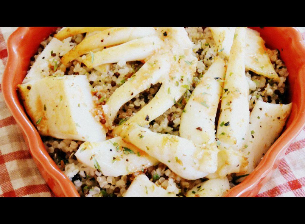 salade de seiche et quinoa