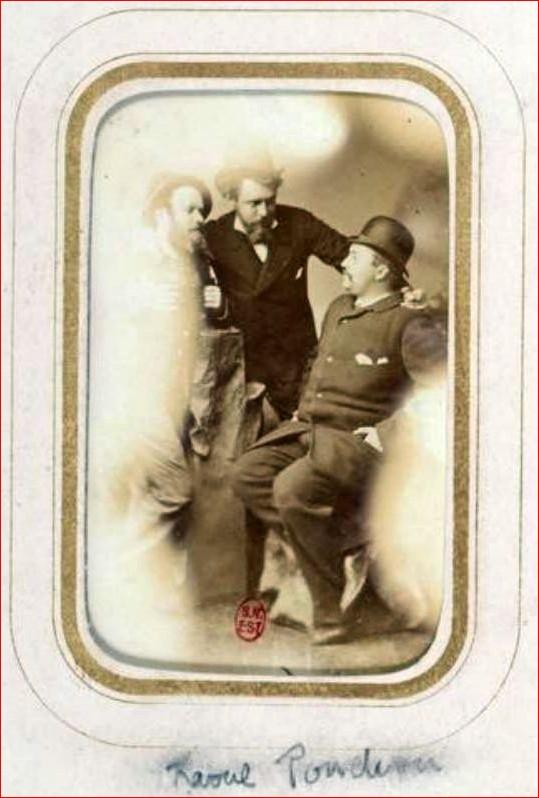 Raoul Ponchon, à gauche sur la photo.