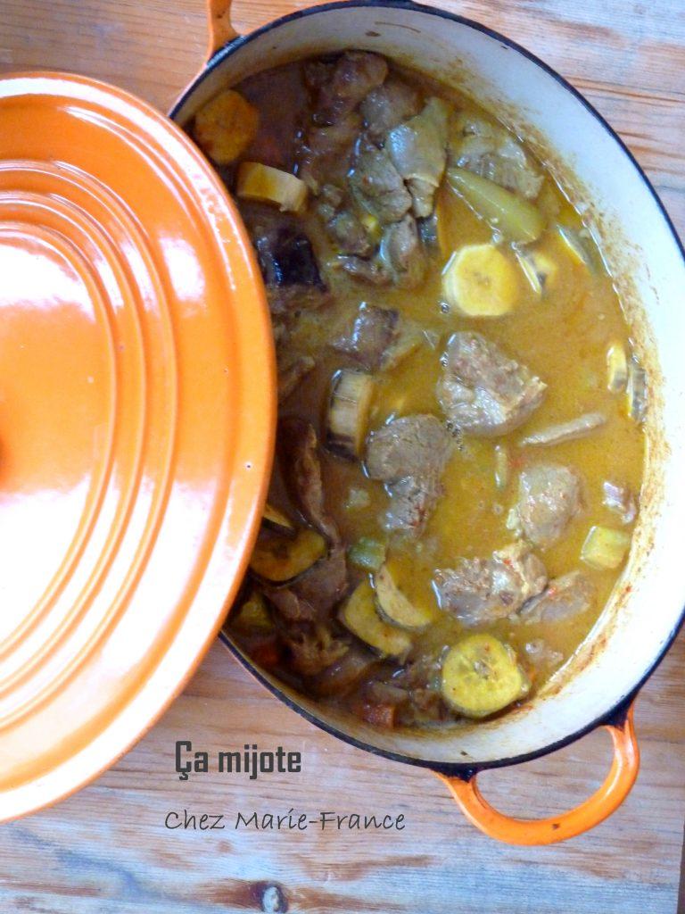 agneau au curry et lait de coco