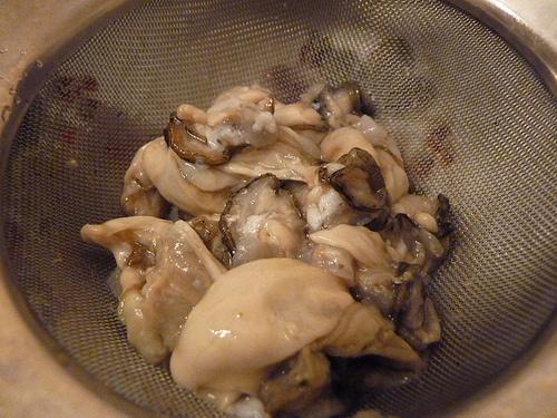 huîtres égouttées