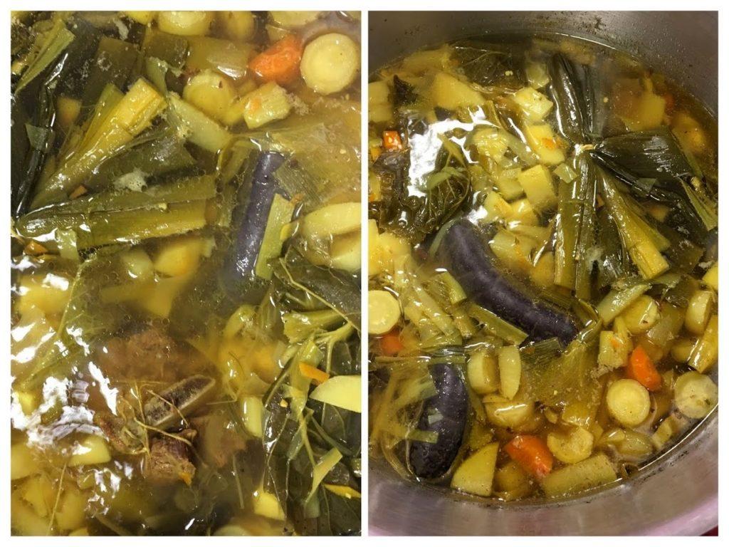 Pot au feu de boudin noir aux légumes détox