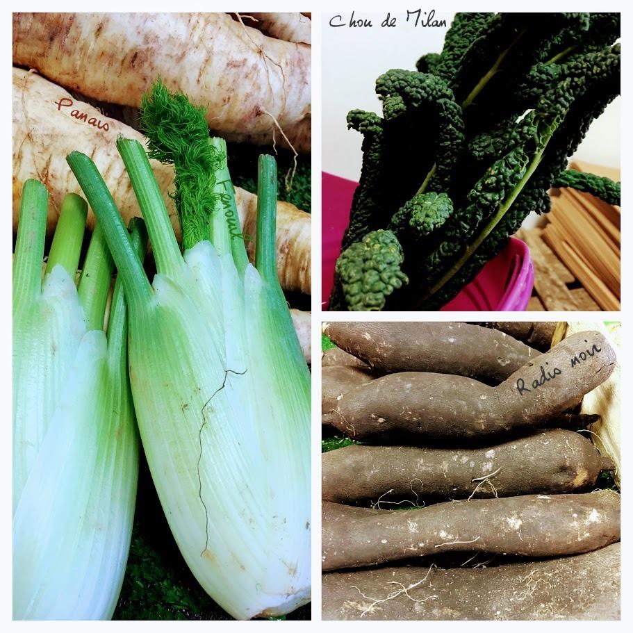 Légumes pour un pot-au-feu de boudin noir aux légumes détox