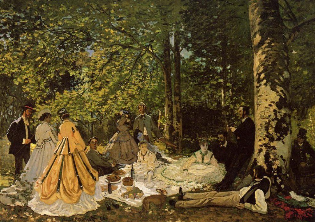 Le déjeuner sur l'herbe - Claude Monet