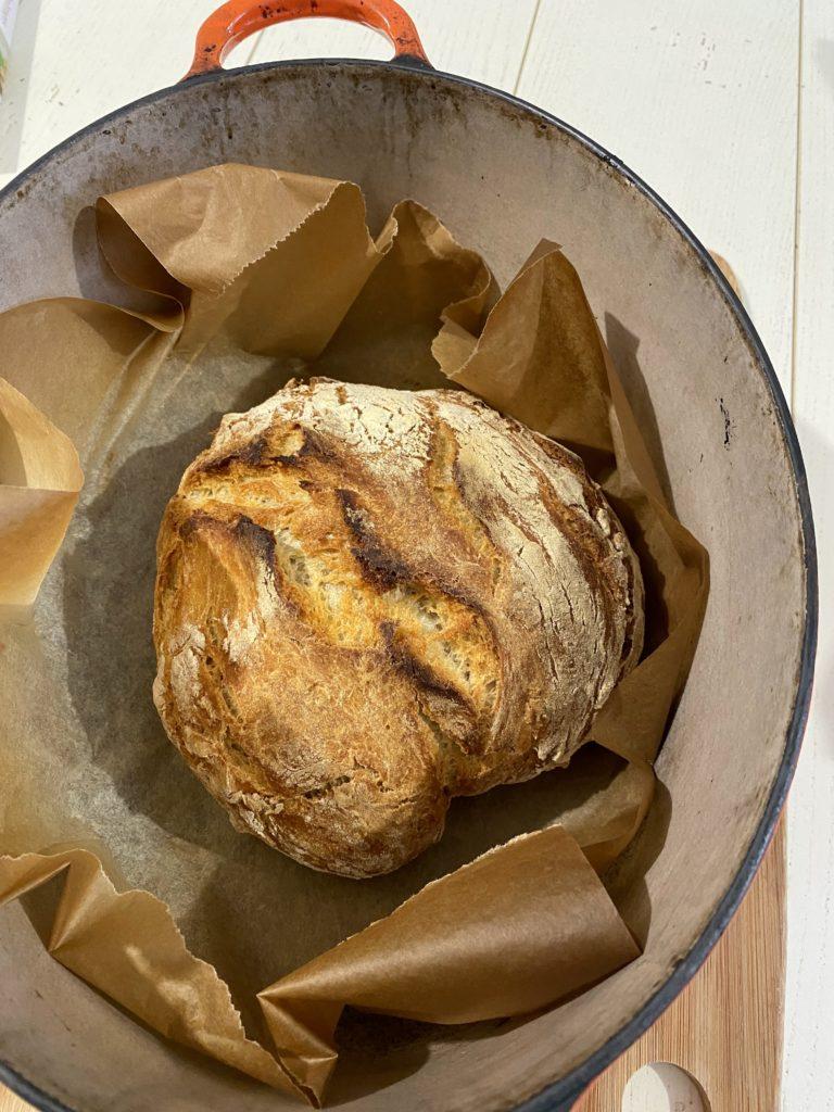 pain cocotte à la bière sans levain