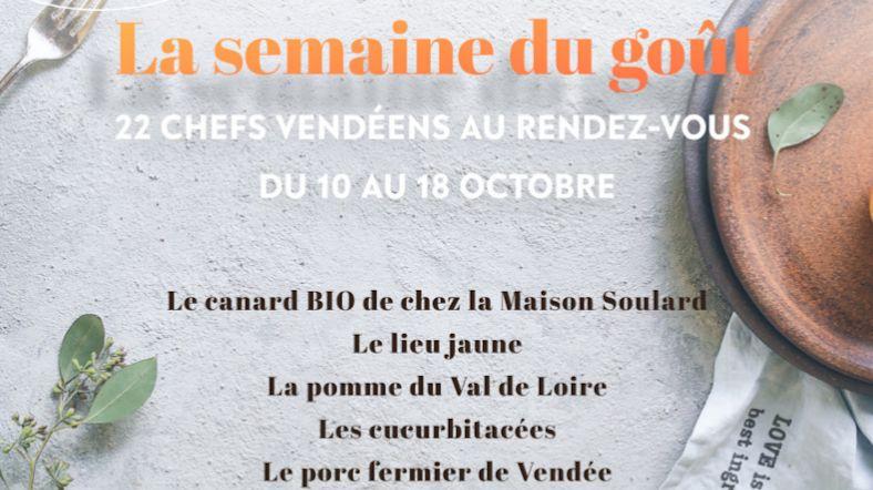 semaine du goût 2020 en Vendée